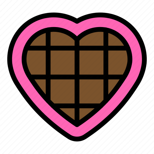 Chocolate, heart, sweets, valentine icon - Download on Iconfinder