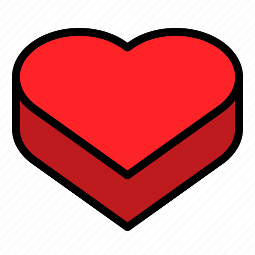 box, heart, package, valentine icon