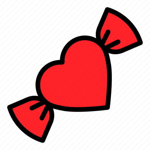 candy, heart, sweets, toffee, valentine icon