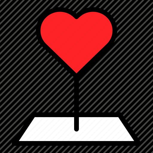 Heart, location, love, pin, valentine icon - Download on Iconfinder