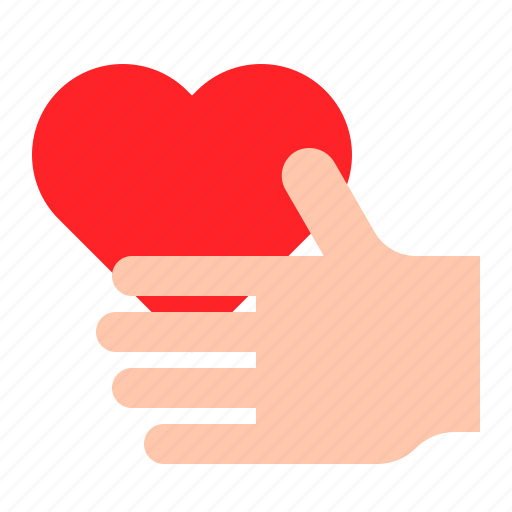 Gift, hand, heart, love icon - Download on Iconfinder