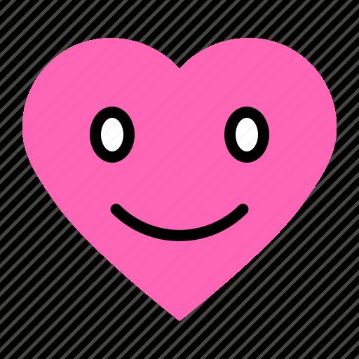 Emoji, emoticon, heart, love, smile icon - Download on Iconfinder