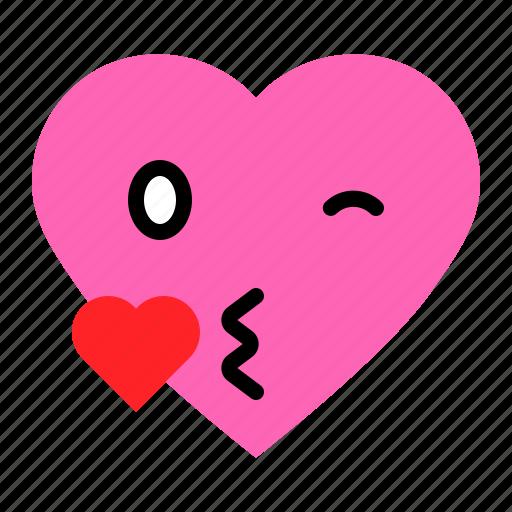 Emoji, emoticon, heart, kiss, love icon - Download on Iconfinder