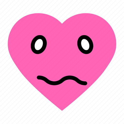 Bored, emoji, emoticon, heart, love icon - Download on Iconfinder