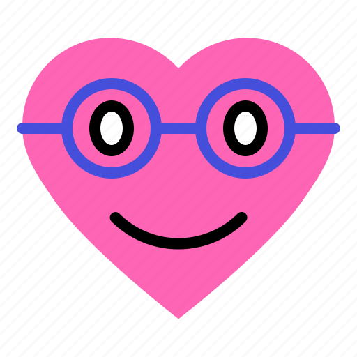emoji, emoticon, heart, love, smile icon