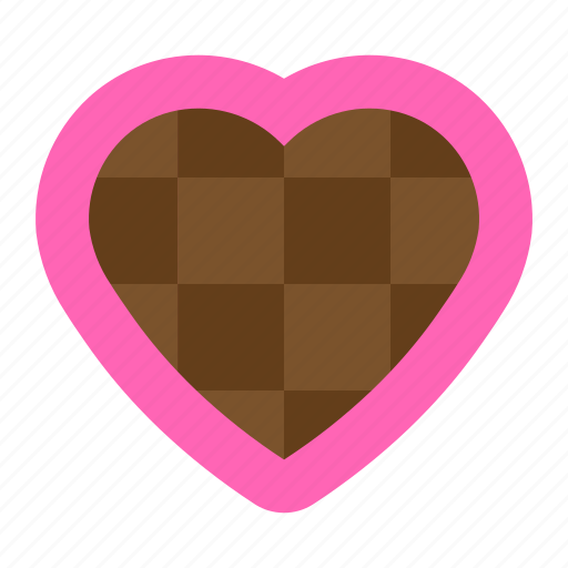 chocolate, heart, love, sweets icon