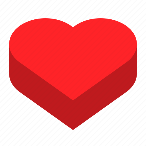 box, heart, love, package icon