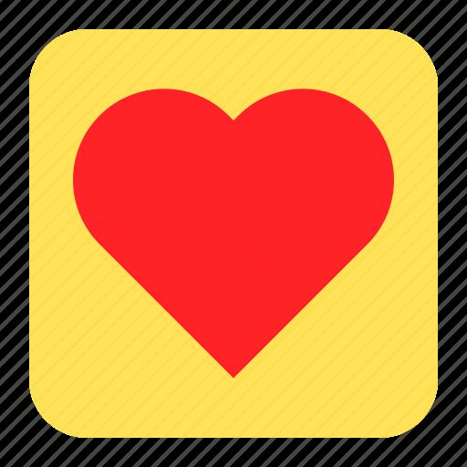 heart, love, press, romantic icon
