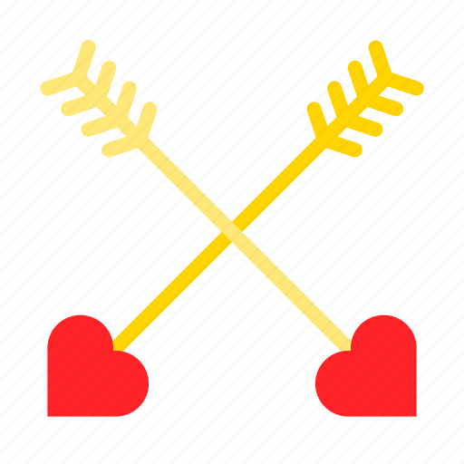 Arrow, cross, heart, love icon - Download on Iconfinder