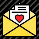 envelope, heart, letter, mail, romance icon