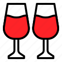 champagne, drinks, glass, romance, wine icon