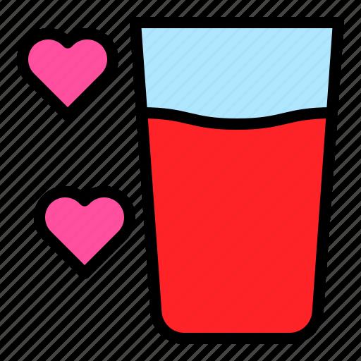 drinks, glass, romance, water icon