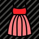 clothes, clothing, dress, romance icon