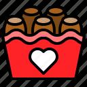 box, chocolate, romance, sweets icon