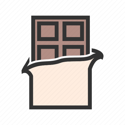 bar, box, chocolate, chocolate bar, sweet, valentines icon