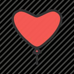balloon, birthday, celebration, decoration, greeting, party, valentine icon