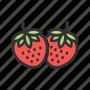 berry, dessert, fruit, strawberries, strawberry, sweet