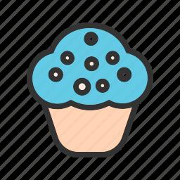 birthday, cake, celebration, cupcake, gift, party, sweet icon