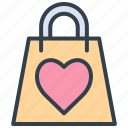 valentine, bag, shopping, shop, gift, love