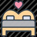 valentine, bed, wedding, marriage, bedroom, couple