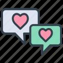 valentine, chat, message, bubble, talk, comment