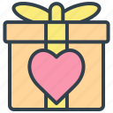 valentine, gift, box, parcel, wedding, xmas