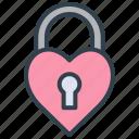 valentine, padlock, lock, heart, love, wedding