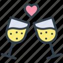 valentine, toast, romantic, party, celebration, holiday
