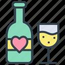 valentine, wine, alcohol, beer, beverage, bottle