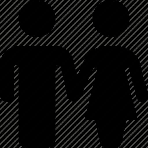 couple, love, man, toilet, valentine, woman icon