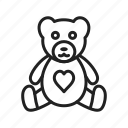 bear, love, stuffed, teddy, toy icon