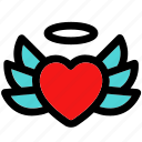 angel, dove, flying hearts, heart wings, revive, winged heart