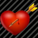 arrow, heart, love, valentine, valentine's day