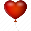 balloon, heart, love, valentine's day, valentine, romance, romantic icon