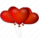 balloons, date, event, heart, hearts, love, valentine's day