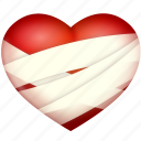 bind up, heart, hurt, love, valentine's day icon