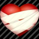 bind up, heart, hurt, love, valentine's day