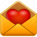 email, heart, like, love, mail, message, valentine, valentine's day icon
