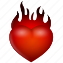burn, favorite, favorites, favourite, favourites, fire, flame, heart, heat, hot, like, love, valentine, valentine's day, warm icon