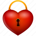 heart, lock, locked, love, password, protection, secure, security, valentine, valentine's day icon