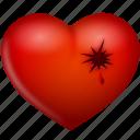 heart, hurt, love, shot, valentine's day