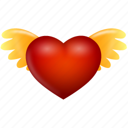 angel, bookmark, favorite, favorites, favourite, heart, like, love, star, valentine's day, wing, wings icon