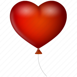 balloon, heart, love, valentine's day icon