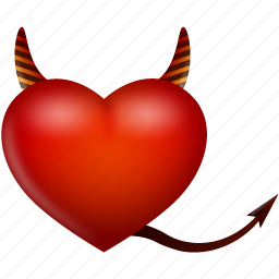 devil, evil, heart, like, love, valentine, valentine's day icon