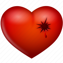 heart, hurt, love, shot, valentine's day icon