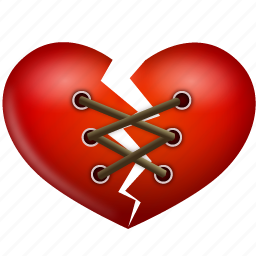 heart, stitch, valentine, valentine's day icon