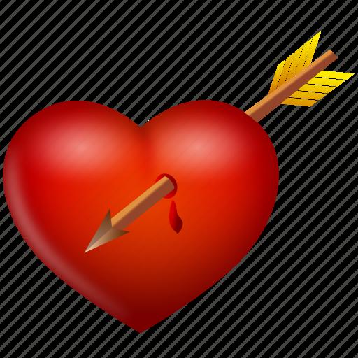 Arrow, heart, love, valentine, valentine