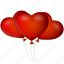 balloons, date, event, heart, hearts, like, love, valentine's day icon