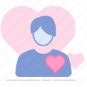 crush, heart, love, lover, man, romance, valentin icon