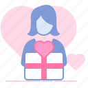 crush, gift, heart, love, lover, romance, valentin icon